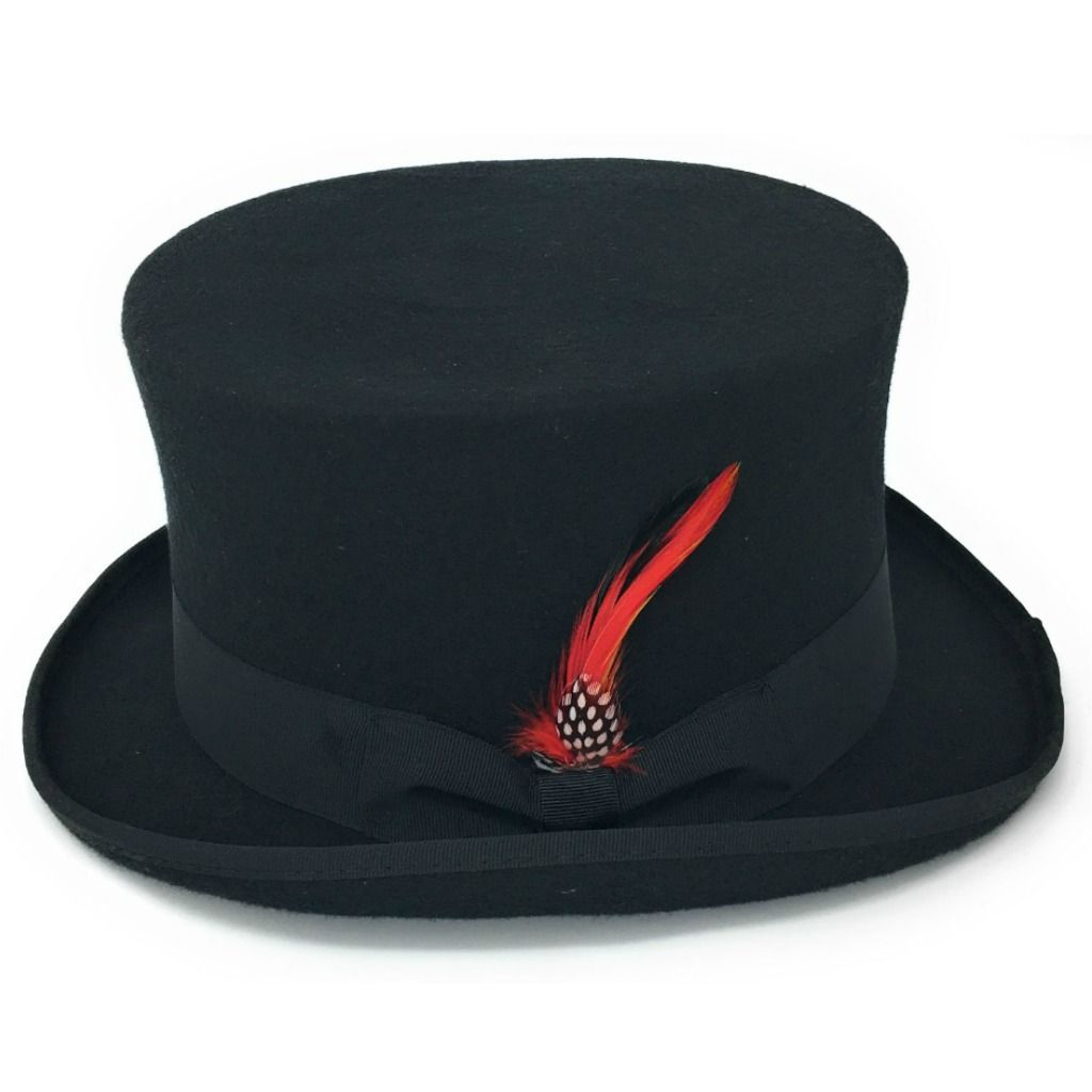 Brands On Sale, Inc. Toynk Toys LLC. BlockBuster Costumes, LLC. Costumes4less. Mad Hatters Black Top Hat w Attached Red Hair - Adult One Size. Product Image. Price $ Dozen Black Plastic Top Hats for ages 3+ Add To Cart. There is a problem adding to cart. Please try again.